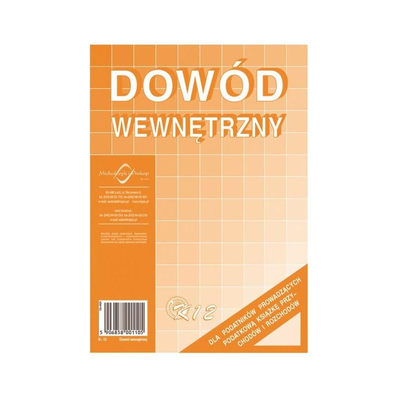 DRUK DOWÓD WEWNĘTRZNY A-5