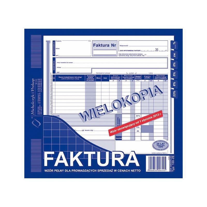 DRUK FAKTURA 2/3 A4 WIELOKOPIA