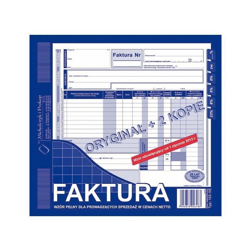 DRUK FAKTURA 2/3 A4 PELNA...