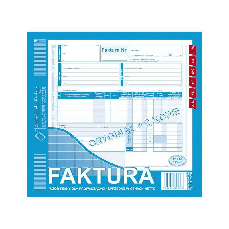 DRUK FAKTURA 2/3 A4 /O+2K/