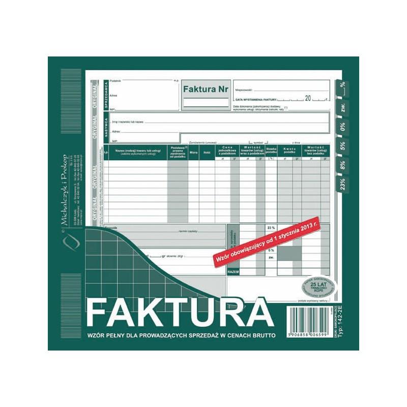 DRUK FAKTURA 2/3 A4 BRUTTO
