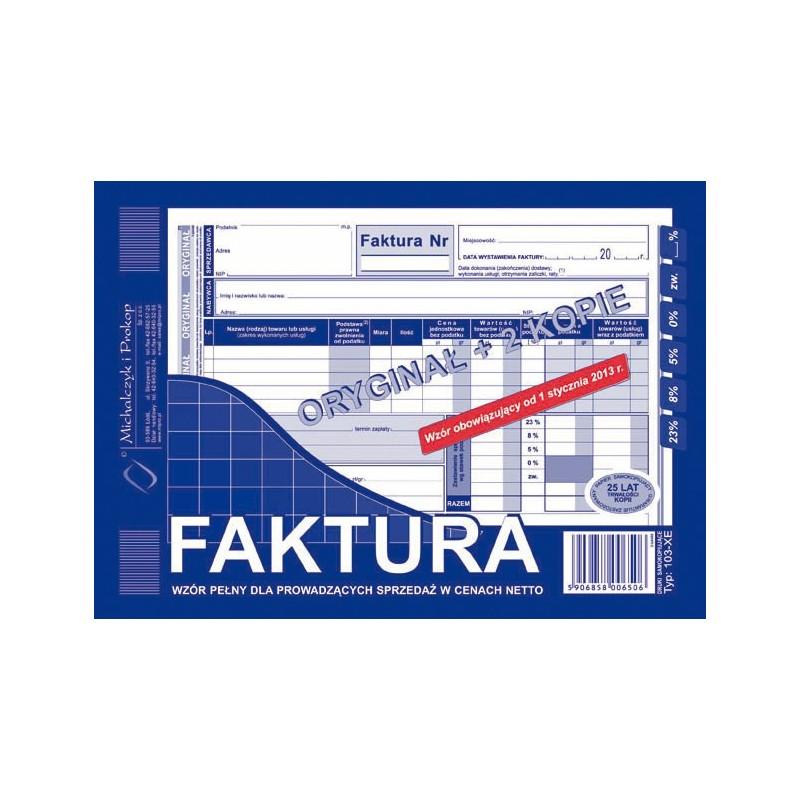 DRUK FAKTURA A5 PELNA ORG+2K