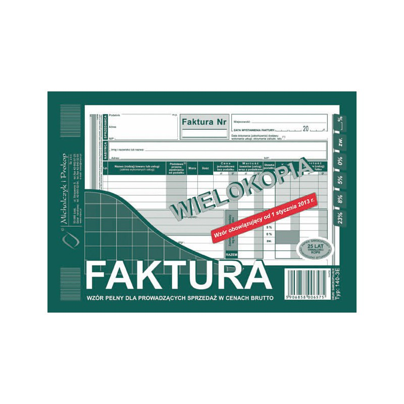 DRUK FAKTURA A5 BRUTTO...