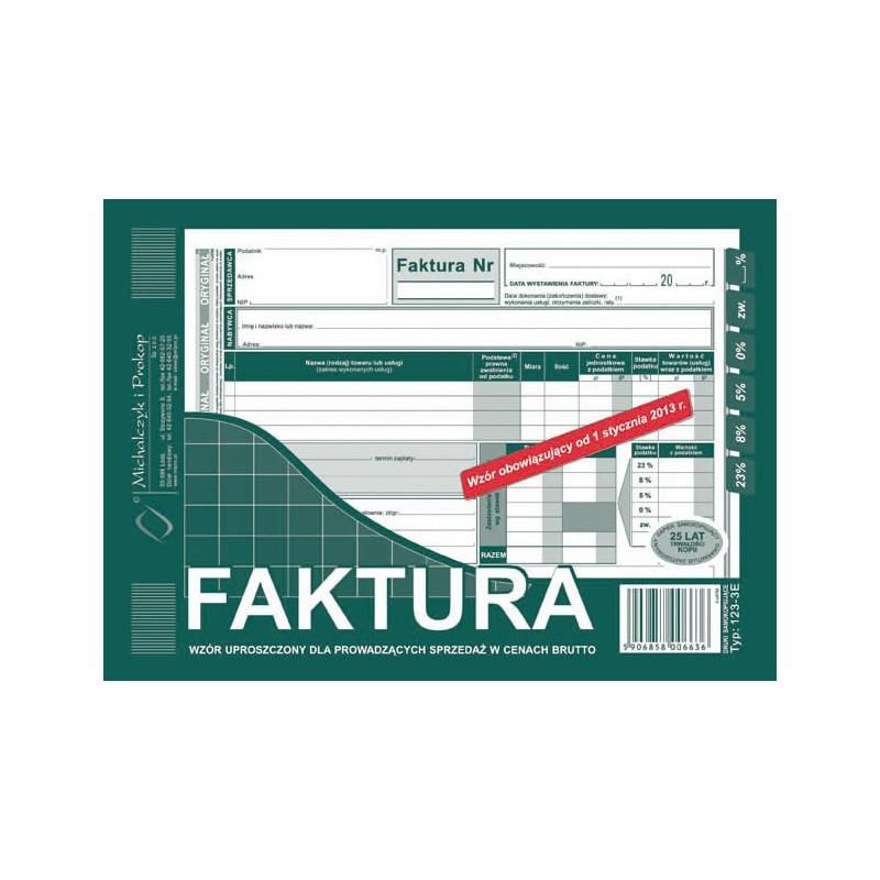 DRUK FAKTURA BRUTTO A5...