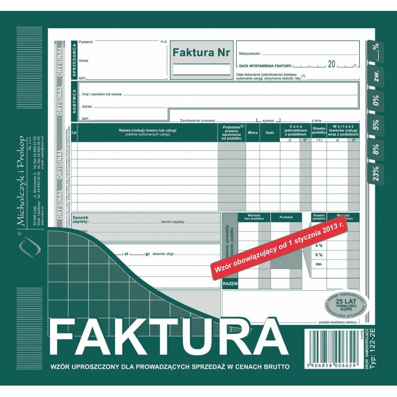 DRUK FAKTURA VAT BRUTTO 2/3...
