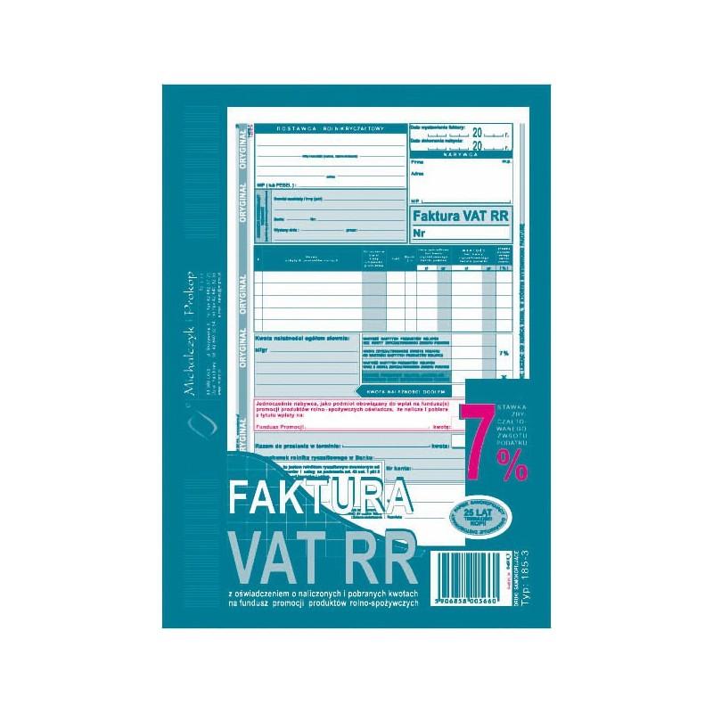 DRUK FAKTURA VAT RR DLA...