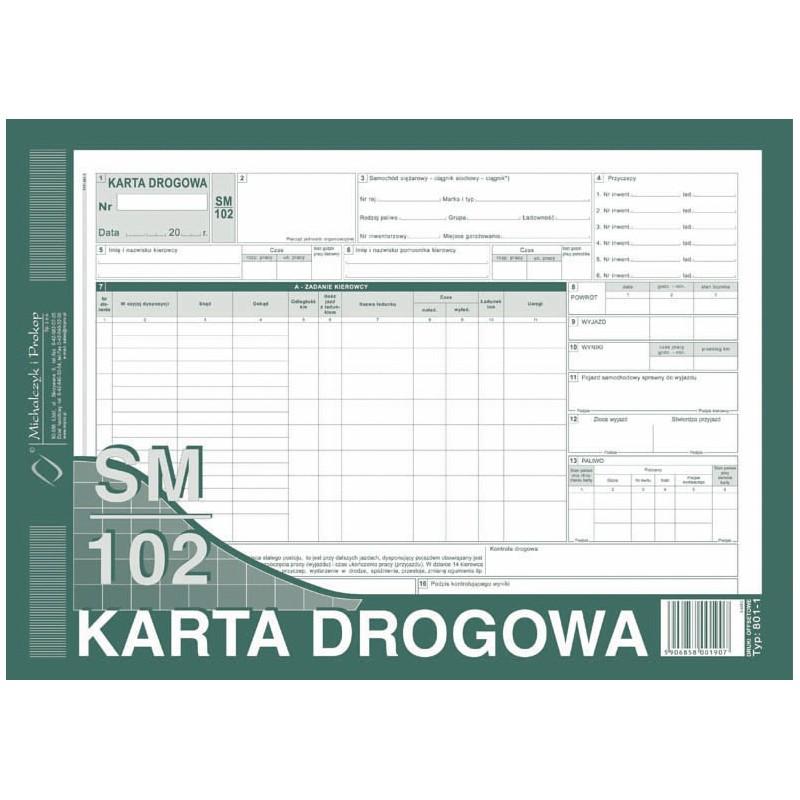 DRUK KARTA DROGOWA A4...