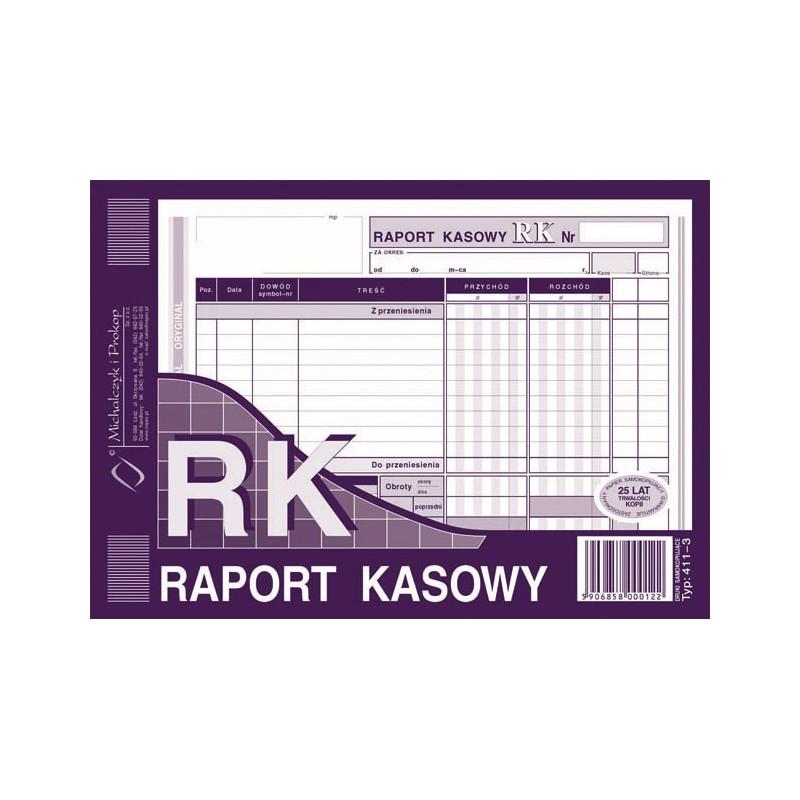 DRUK RAPORT KASOWY A5