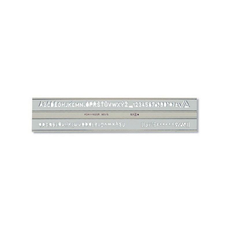 SZABLON CYFR-LITER. 5MM 748006