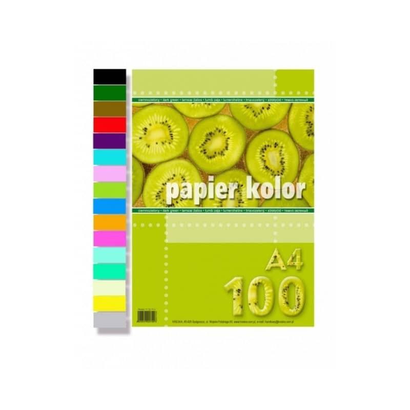 PAPIER KOLOR A4 100 NIEBIESKI