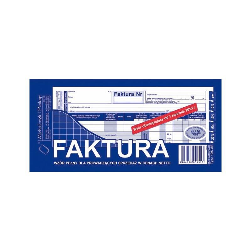 DRUK FAKTURA 1/3 A4 PELNA
