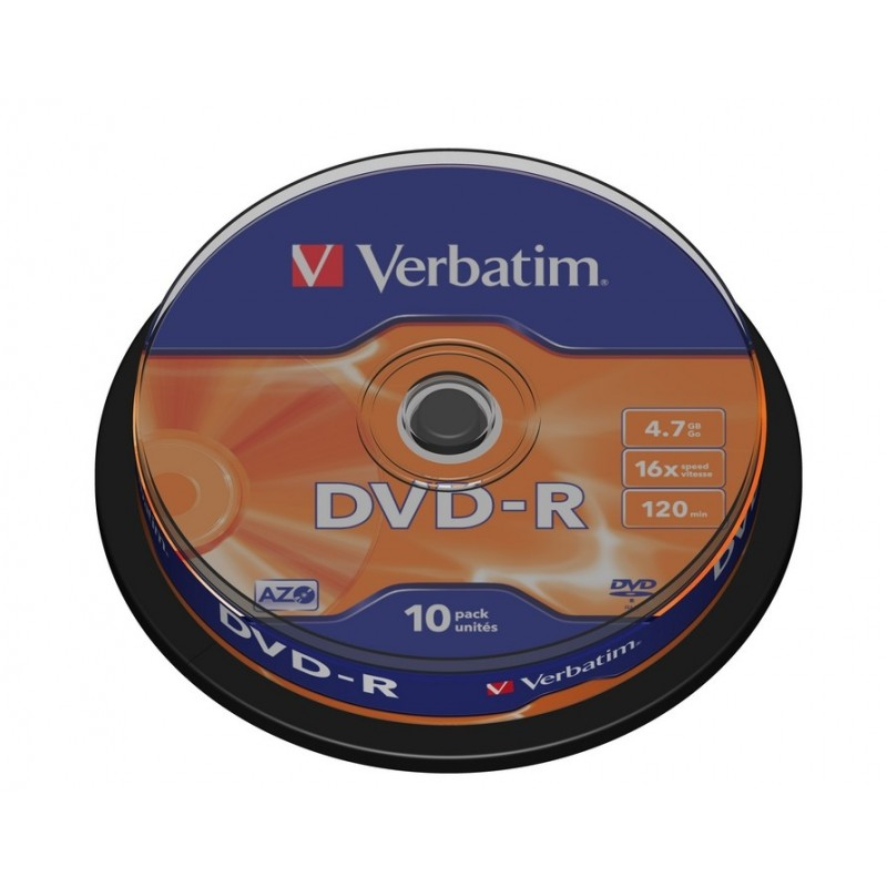 DVD-R 4.7GB CAKE 10 VERBATIM