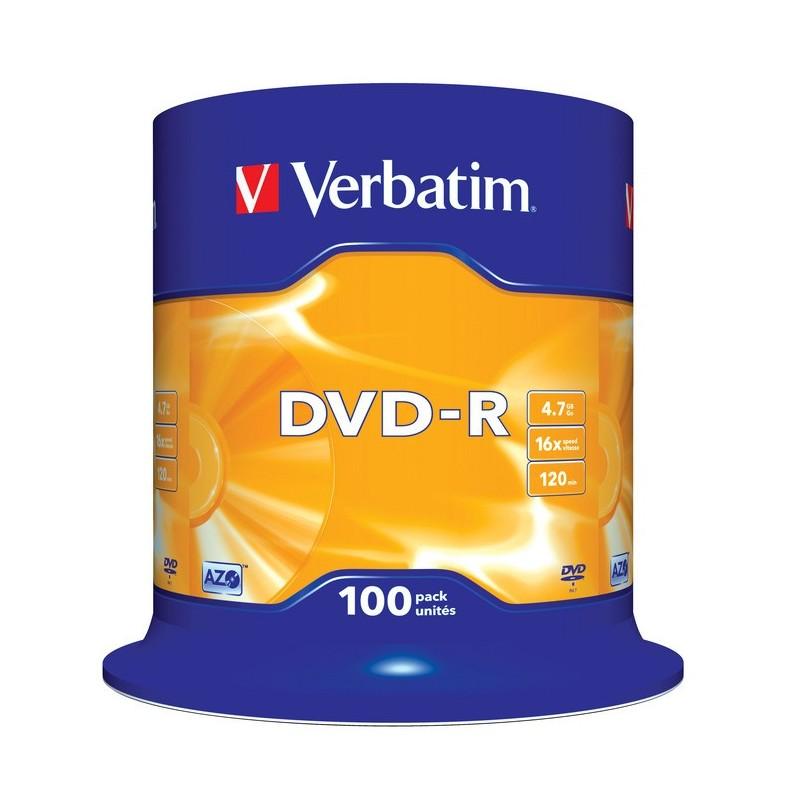 DVD-R 4.7GB CAKE 100 VERBATIM