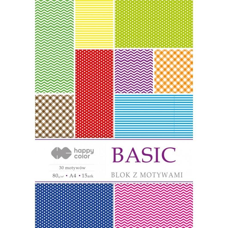 BLOK Z MOTYWAMI BASIC A4 15Ark