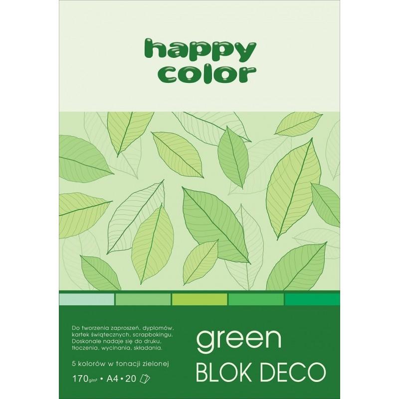 BLOK DECO GREEN A4, /20/ 5K...