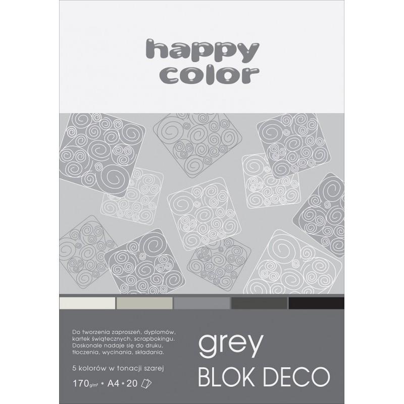BLOK DECO GREY A4, /20/ 5K...