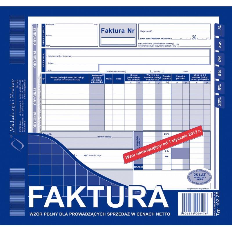 DRUK FAKTURA 2/3 A4 PELNA