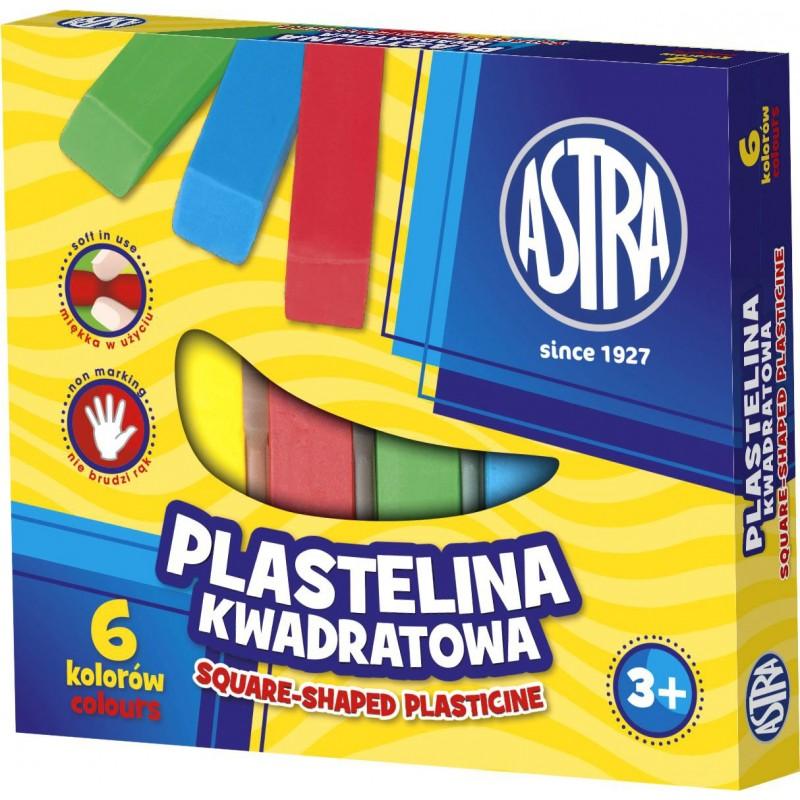 PLASTELINA 6K KWADRAT ASTRA
