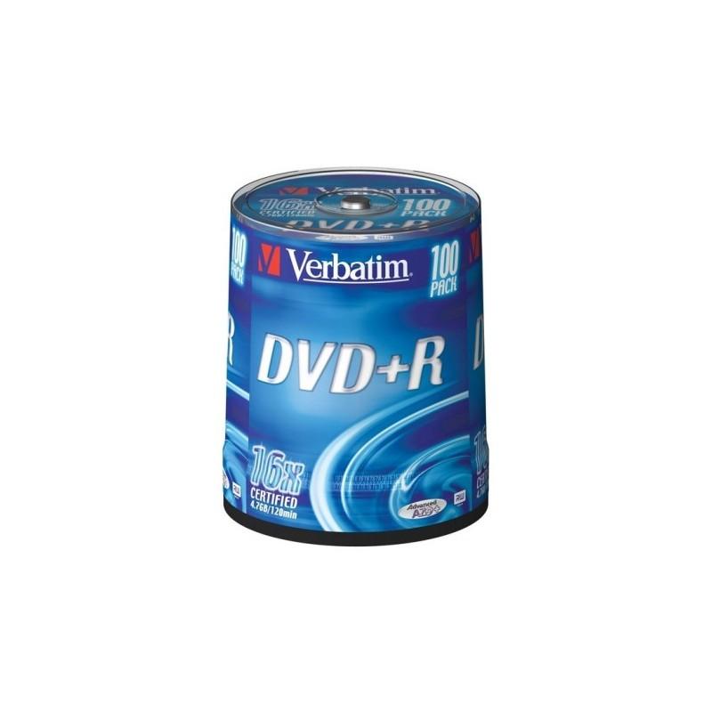 DVD+R 4.7GB CAKE 100 VERBATIM